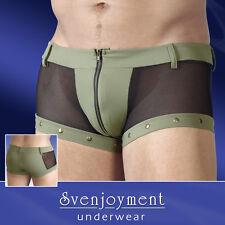 Svenjoyment Knack-Po Netz Shorts Pants Hipster Front-Zip Jeans-Style NEU in L