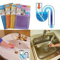 12pcs Bathroom Kitchen Sewer Cleaning Brush Toilet Dredge Sink Deodorant Stick
