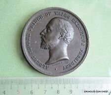 1886 COLONIAL AND INDIA EXHIBITION MEDAL PRINCE OF WALES LARGE 52mm TONED #MVJ90