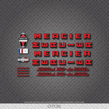 0709 Mercier Special Tour De France Bicycle Stickers - Decals - Transfers - Red