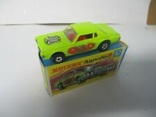 """Matchbox Lesney Superfast SF62 Cougar Dragster- lime green """"Rat Rod"""", boxed"""