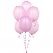 "72 Latex Balloons 12"" With Clips and Curling Ribbon-Pink"