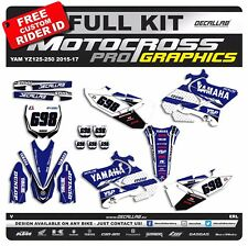 YAMAHA YZ 125 YZF 250 2015 2016 2017 MX Graphics Decals Stickers Decallab