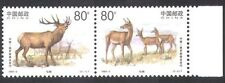 China 1999 Red Deer/Animals/Nature/Conservation/Environment 2v pair (b6832)