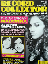 RECORD COLLECTOR.MADONNA.LED ZEPPELIN.PAGE.PLANT.CORNERSHOP.ROLLING STONE.1998.