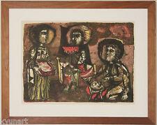Listed Spanish Artist ANTONI CLAVE, Rare Early Original Signed Lithograph, 1952