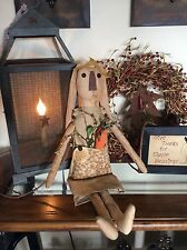 Primitive Easter bunny doll with carrot Folk Art