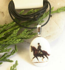 HORSE & WESTERN JEWELLERY JEWELRY LADIES GIRLS  DRESSAGE CORD NECKLACE