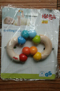 Haba Rattle Wooden Duo Of Colors, Made IN Germany 5268