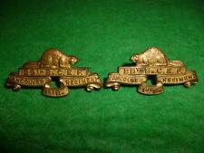 M22 - The Vancouver Regiment Collar Badge Pair - Canada 1922 issue