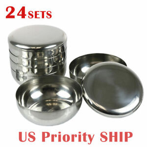 Kitchen Tableware Stainless Steel Round Korean Traditional Rice Bowl With Lid Soup Bowl Set Vacuum Insulated Double Wall