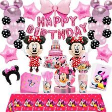 110 Pcs  Minnie Mouse Birthday Party Decorations Minnie Mouse Party Balloons