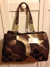 Coach Signature Inlaid Patchwork Tote style 20013 Chocolate Brown NWT