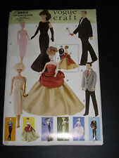 "VOGUE DOLL Pattern 9894 OOP! 11 1/2"" Fashion Dolls as Barbie UNCUT"