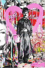 Mint Mr Brainwash Charlie Chaplin Kate Moss Postcard Print pop art banksy warhol