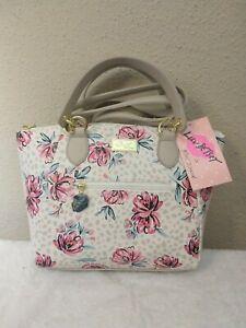 Betsey Johnson Satchel Floral Handbag Purse
