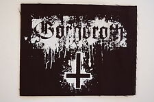 "Gorgoroth Cloth Patch Sew On Badge Black Metal Marduk Approx 4""X5"" (CP235)"