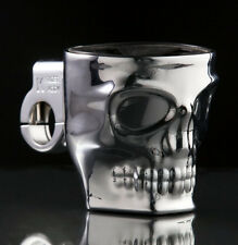 Skull Kruzer Kaddy CUP HOLDER Motorcycle Chopper Scooter Drink Holder 100723