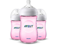 Philips Avent Natural Bottle Pink 9oz - SCF013/38