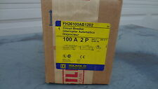 FH26100AB NEW IN BOX - Square D Circuit Breaker - 100A 600V 2P - FH26100AB1202