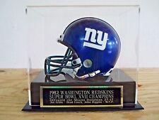 Football Mini Helmet Case With A Washington Redskins Super Bowl XVII Nameplate
