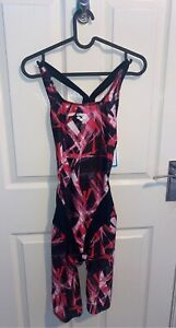 Brand New Pink And Black Arena Racing Swimming Costume. Size UK34