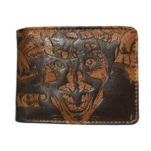 Comics Joker Wallet Embossed Leather Purse Id Card Holder Coin Pocket