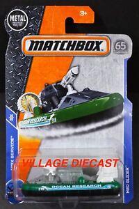 2018 Matchbox #71 H20 Glider™ GREY / GREEN / BLACK / OCEAN RESEARCH / MOC