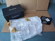 Waterford Crystal Train & Carriages Ornaments Set of 3 with gold tassels