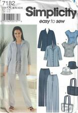 Misses Pants Shirt Top & Accessories Simplicity 7182 Size 8-14 Easy to Sew Uncut
