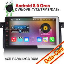 Autoradio Android 8.0 DAB+GPS DVB-T2 TPMS Navi USB BMW 3er E46 M3 Rover 75 MG ZT