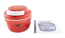 Tupperware Red Turbo Chef Food Processor Chopper Base 288 Cuts in 15sec 300ml