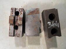 3 Backen Blockbacken Aufsatzbacken f. Dreibackenfutter Drehmaschinenfutter #0364