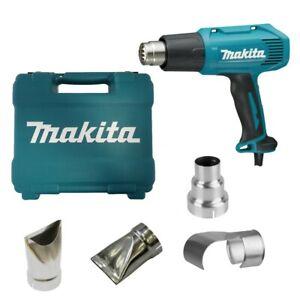 Makita Heißluftgebläse HG5030K 1600W + 4 Düsen Heißluftpistole 350-500°C Koffer