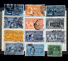 Old US Special Delivery Stamp Collection 12 USED E2, E3, E5-E9, E11-E14 & E18