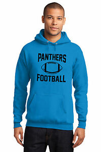 New Carolina Panthers Hoodie Men'S Hooded Blue Pullover Sweatshirt Size S-4XL