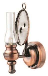 Maison de Poupées Cuivre Huile Lampe Mural Lumière Camden LED Batterie Éclairage