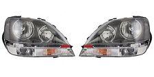 1999-2003 LEXUS RX300 (GRAY) W/HALOGEN HEADLIGHTS HEADLAMPS LIGHTS LAMPS PAIR