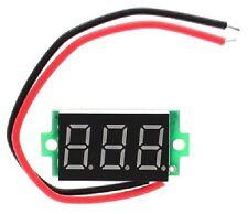 "LED Blu 0,36 ""Display a 3 cifre 3-30V Voltaggio Volt Tester Batteria 18650 Chip 100B"