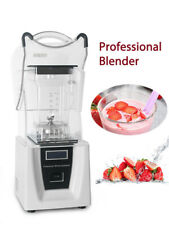 White Commercial Smoothie Maker Blender With Soundproof Cover Mixer Juicer CE