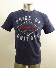 Norton Motorcycles men's t-shirt blue S new