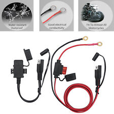 12V Motorcycle SAE to USB Phone GPS Charger Cable Adapter Inline Fuse Waterproof