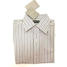 J-3571998 New Tom Ford Grey Striped Oxford Button Shirt Size 15 Marked 38