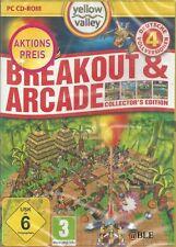 PC Spiel + BREAKOUT & ARCADE + Spielebox mit 4 deutsche Vollversionen + Action +