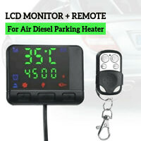 For Car Diesel Air Parking Heater LCD Monitor Switch&1*Remote Control Controller
