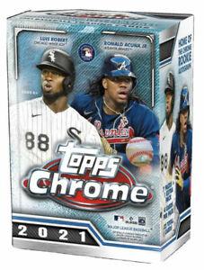 2021 Topps Chrome MLB Baseball Blaster Box - Factory Sealed - Brand New