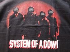 System Of A Down Facemasks Medium 1 Sided Concert Shirt Pre-Shrunk 100% Cotton