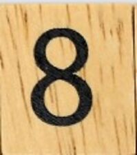 INDIVIDUAL WOOD SCRABBLE TILES! 8 FOR $2, OR 25 CENTS PER TILE. NUMBER 8 eight