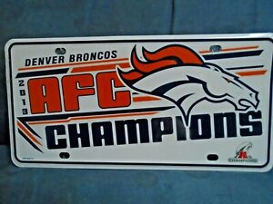 Denver BRONCOS NFL AFC 2013 A Champions Football License Plate New