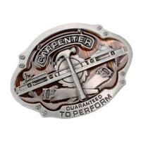 Men's Retro Carpenter Tools Pattern Metal Belt Buckle Western Cowboy Gift